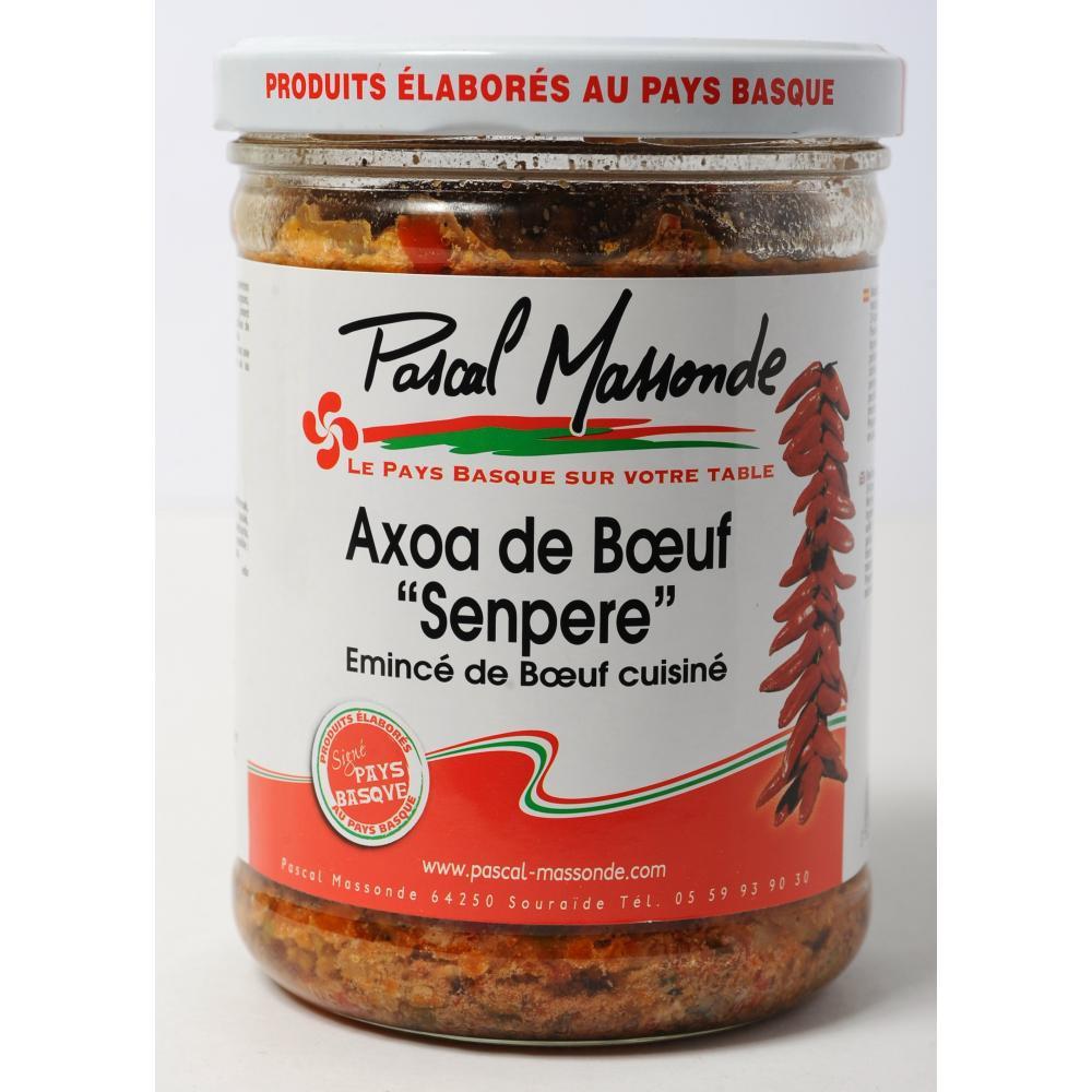 """Axoa de bœuf """"Senpere"""" (émincé de bœuf cuisiné)"""