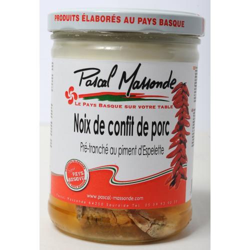 Noix de Confit de Porc prétranché au Piment d'Espelette - Verrine 750g