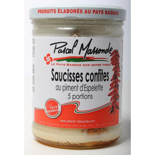 Saucisses Confites au Piment d'Espelette (5 portions) - Verrine 750g