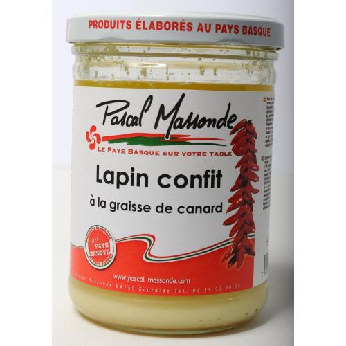 Lapin Confit à la Graisse de Canard - Verrine 750g